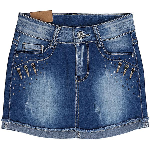 Юбка джинсовая для девочки Sweet BerryЮбки<br>Джинсовая юбка для девочки. Карманы декорированы крупными стразами. Пояс с регулировкой внутренней резинкой.<br>Состав:<br>98%хлопок 2%эластан<br><br>Ширина мм: 207<br>Глубина мм: 10<br>Высота мм: 189<br>Вес г: 183<br>Цвет: синий<br>Возраст от месяцев: 24<br>Возраст до месяцев: 36<br>Пол: Женский<br>Возраст: Детский<br>Размер: 98,104,128,122,116,110<br>SKU: 5412457