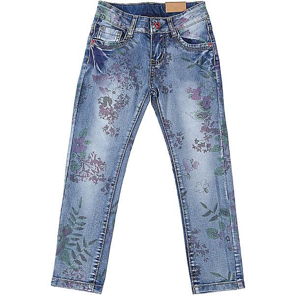 Джинсы для девочки Sweet BerryДжинсовая одежда<br>Джинсы  для девочки с оригинальной варкой и цветочным принтом. Имеют зауженный крой, среднюю посадку. Застегиваются на молнию и пуговицу. Шлевки на поясе рассчитаны под ремень. В боковой части пояса находятся вшитые эластичные ленты, регулирующие посадку по талии.<br>Состав:<br>98%хлопок 2%эластан<br><br>Ширина мм: 215<br>Глубина мм: 88<br>Высота мм: 191<br>Вес г: 336<br>Цвет: синий<br>Возраст от месяцев: 24<br>Возраст до месяцев: 36<br>Пол: Женский<br>Возраст: Детский<br>Размер: 98,104,128,122,116,110<br>SKU: 5412464