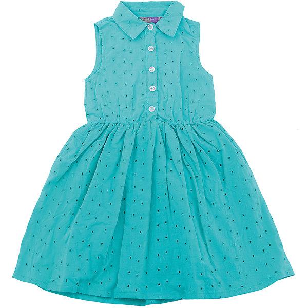 Платье для девочки Sweet BerryПлатья и сарафаны<br>Текстильное платье из хлопка для девочки без рукавов из вышитого полотна. Приталенный крой. Застегивается на пуговки. Отложенный воротничок.<br>Состав:<br>Верх: 100% хлопок, Подкладка: 100%хлопок<br>Ширина мм: 236; Глубина мм: 16; Высота мм: 184; Вес г: 177; Цвет: зеленый; Возраст от месяцев: 24; Возраст до месяцев: 36; Пол: Женский; Возраст: Детский; Размер: 98,128,122,116,110,104; SKU: 5412478;