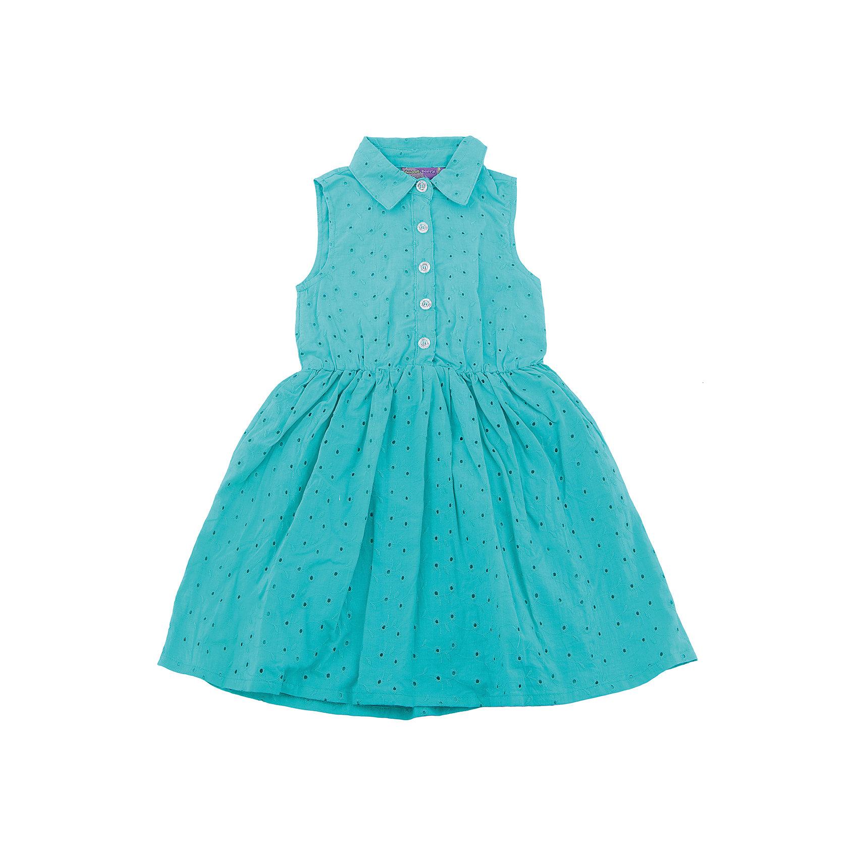 Платье для девочки Sweet BerryТекстильное платье из хлопка для девочки без рукавов из вышитого полотна. Приталенный крой. Застегивается на пуговки. Отложенный воротничок.<br>Состав:<br>Верх: 100% хлопок, Подкладка: 100%хлопок<br><br>Ширина мм: 236<br>Глубина мм: 16<br>Высота мм: 184<br>Вес г: 177<br>Цвет: зеленый<br>Возраст от месяцев: 36<br>Возраст до месяцев: 48<br>Пол: Женский<br>Возраст: Детский<br>Размер: 104,98,110,116,122,128<br>SKU: 5412478