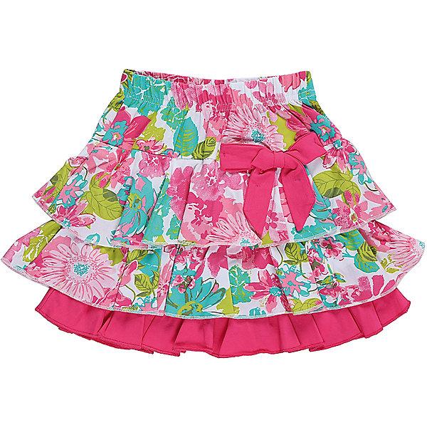 Юбка для девочки Sweet BerryЮбки<br>Многоярусная юбочка для девочки из трикотажной принтованной ткани. Декорированна милым бантиком. Эластичный мягкий пояс.<br>Состав:<br>95%хлопок 5%эластан<br>Ширина мм: 207; Глубина мм: 10; Высота мм: 189; Вес г: 183; Цвет: белый; Возраст от месяцев: 24; Возраст до месяцев: 36; Пол: Женский; Возраст: Детский; Размер: 98,104,128,122,116,110; SKU: 5412485;