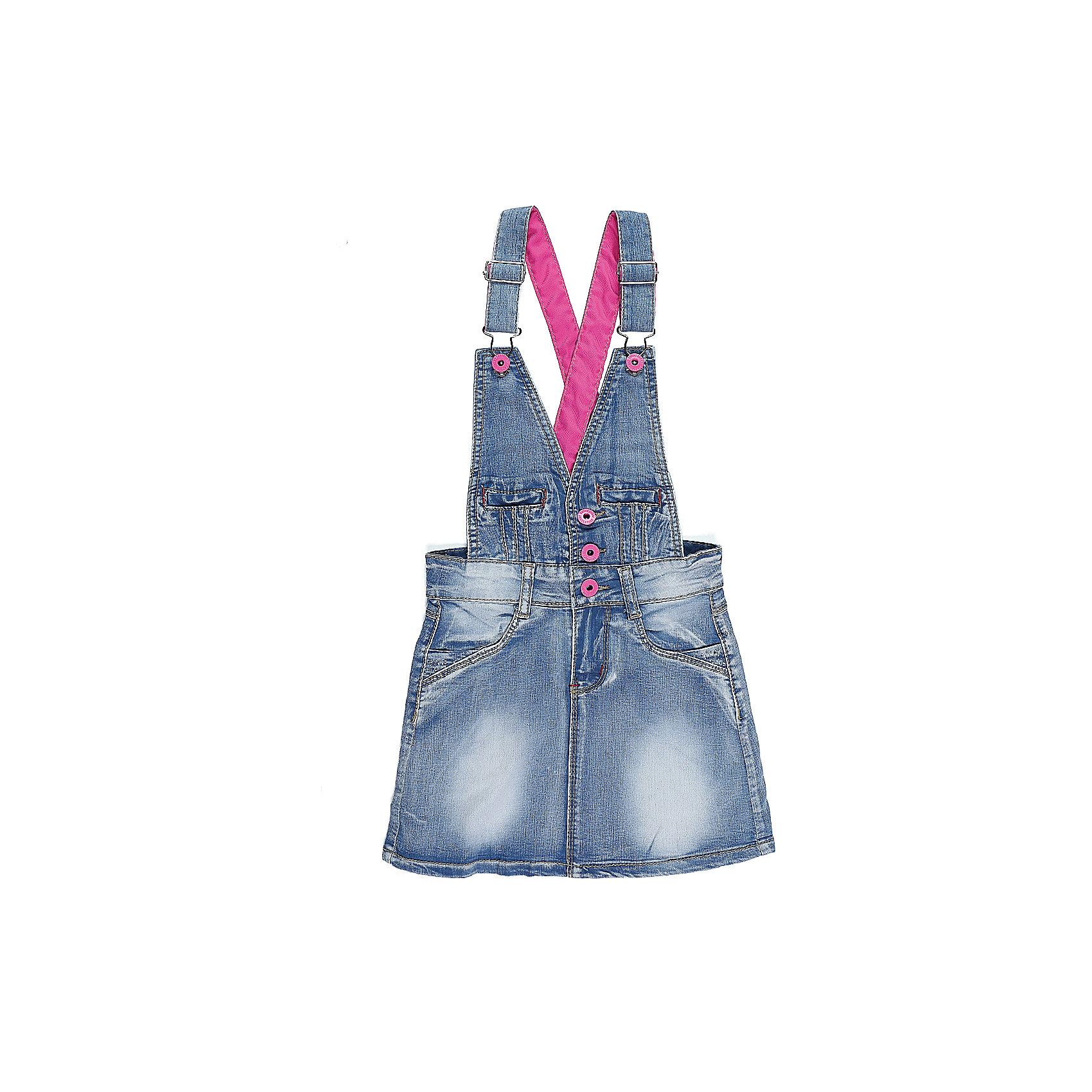 Сарафан джинсовый для девочки Sweet BerryДжинсовая одежда<br>Модный джинсовый сарафан для девочки.  Декорирован яркими стильными пуговицами и контрастными лямками. Два боковых кармана. Регулируемые бретели.<br>Состав:<br>98%хлопок 2%эластан<br><br>Ширина мм: 236<br>Глубина мм: 16<br>Высота мм: 184<br>Вес г: 177<br>Цвет: синий<br>Возраст от месяцев: 36<br>Возраст до месяцев: 48<br>Пол: Женский<br>Возраст: Детский<br>Размер: 104,98,110,116,122,128<br>SKU: 5412527