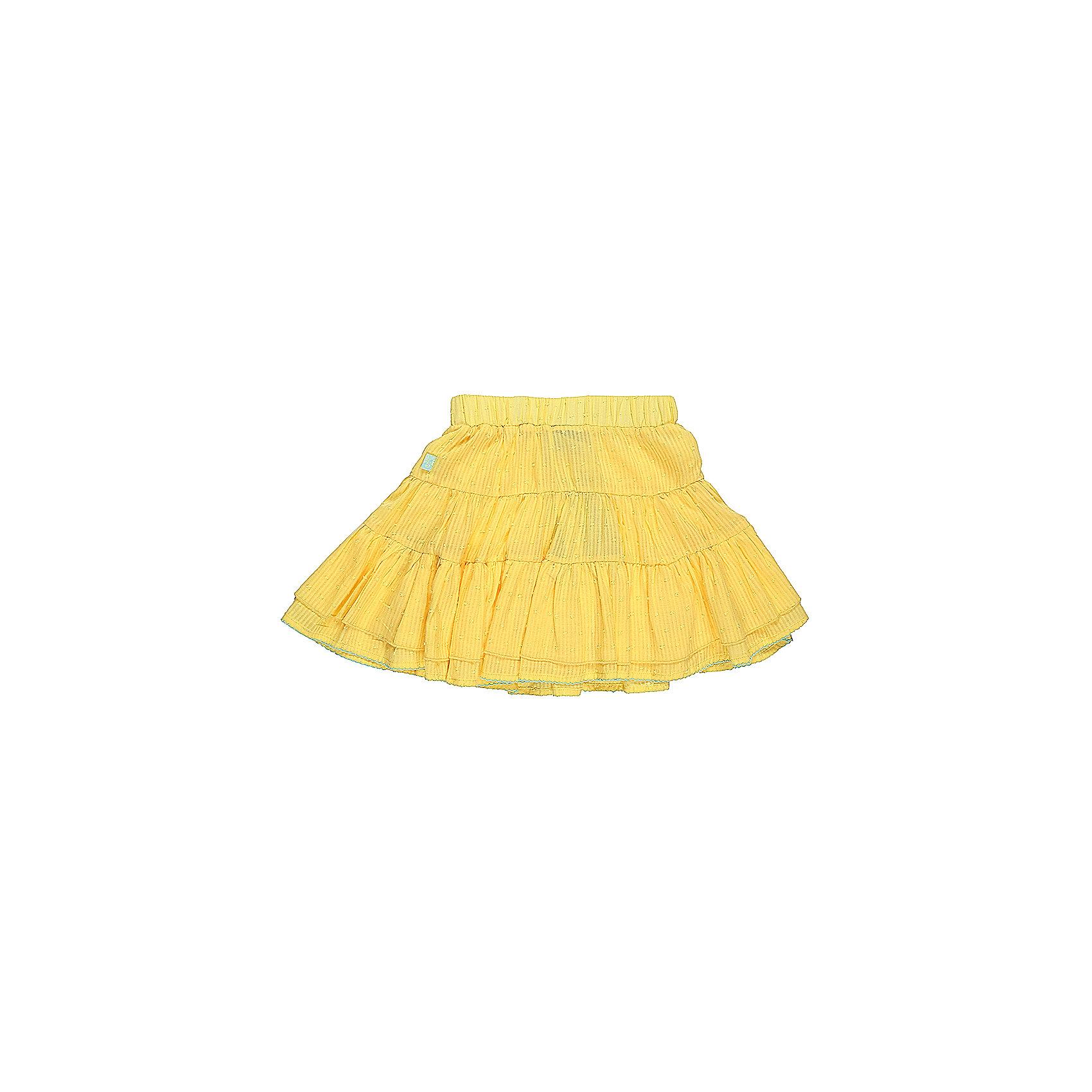 Юбка для девочки Sweet BerryЮбки<br>Трехъярусная трикотажная юбка для девочки. Декорированна контрастной ниткой по низу изделия. Эластичный пояс.<br>Состав:<br>Верх: 100% хлопок, Подкладка: 100%хлопок<br><br>Ширина мм: 207<br>Глубина мм: 10<br>Высота мм: 189<br>Вес г: 183<br>Цвет: желтый<br>Возраст от месяцев: 24<br>Возраст до месяцев: 36<br>Пол: Женский<br>Возраст: Детский<br>Размер: 104,110,116,122,128,98<br>SKU: 5412647