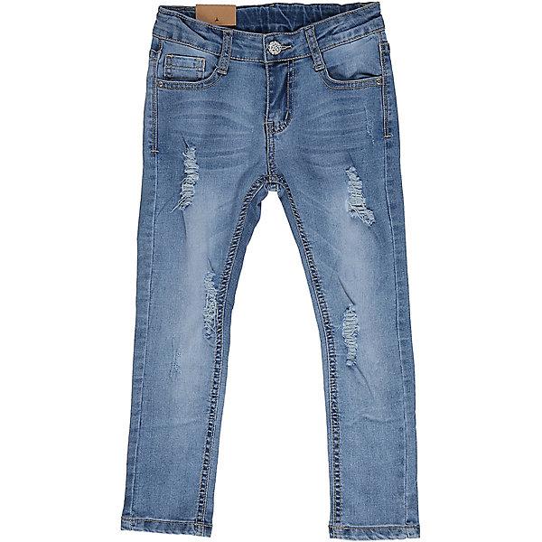 Джинсы для девочки Sweet BerryДжинсовая одежда<br>Джинсы  для девочки с оригинальной варкой, эффектами потертости и рваной джинсы. Имеют зауженный крой, среднюю посадку. Застегиваются на молнию и пуговицу. Шлевки на поясе рассчитаны под ремень. В боковой части пояса находятся вшитые эластичные ленты, регулирующие посадку по талии.<br>Состав:<br>98%хлопок 2%эластан<br>Ширина мм: 215; Глубина мм: 88; Высота мм: 191; Вес г: 336; Цвет: голубой; Возраст от месяцев: 24; Возраст до месяцев: 36; Пол: Женский; Возраст: Детский; Размер: 98,104,128,122,116,110; SKU: 5412668;