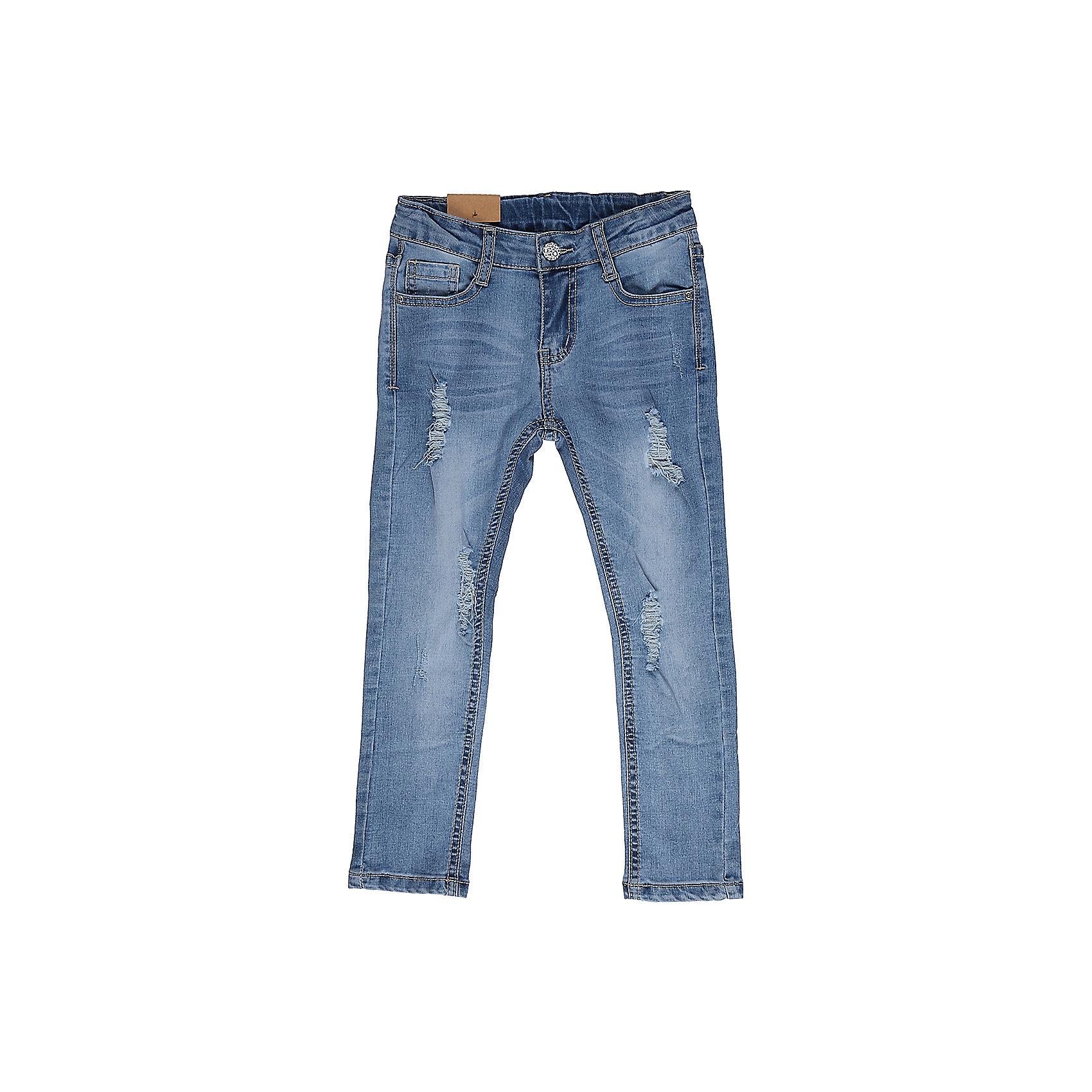 Джинсы для девочки Sweet BerryДжинсовая одежда<br>Джинсы  для девочки с оригинальной варкой, эффектами потертости и рваной джинсы. Имеют зауженный крой, среднюю посадку. Застегиваются на молнию и пуговицу. Шлевки на поясе рассчитаны под ремень. В боковой части пояса находятся вшитые эластичные ленты, регулирующие посадку по талии.<br>Состав:<br>98%хлопок 2%эластан<br><br>Ширина мм: 215<br>Глубина мм: 88<br>Высота мм: 191<br>Вес г: 336<br>Цвет: голубой<br>Возраст от месяцев: 36<br>Возраст до месяцев: 48<br>Пол: Женский<br>Возраст: Детский<br>Размер: 104,98,110,116,122,128<br>SKU: 5412668