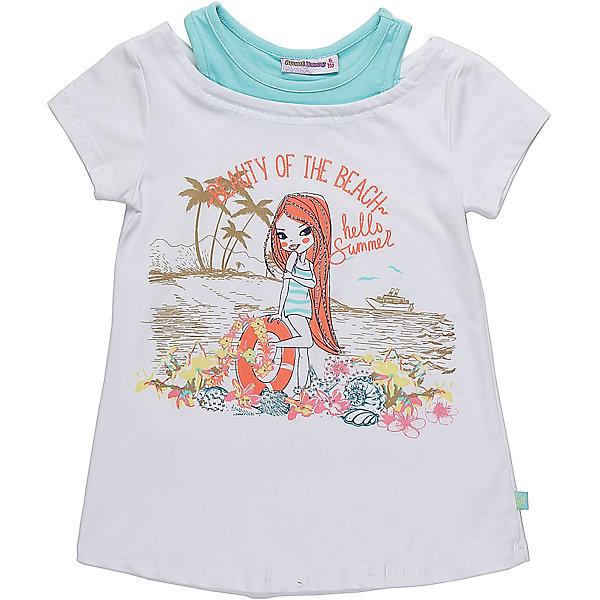 Футболка для девочки Sweet BerryФутболки, поло и топы<br>Стильная футболка из трикотажной ткани для девочки с коротким рукавом. Декорирована оригинальным принтом.<br>Состав:<br>95%хлопок 5%эластан<br><br>Ширина мм: 199<br>Глубина мм: 10<br>Высота мм: 161<br>Вес г: 151<br>Цвет: белый<br>Возраст от месяцев: 24<br>Возраст до месяцев: 36<br>Пол: Женский<br>Возраст: Детский<br>Размер: 98,104,128,122,116,110<br>SKU: 5412675