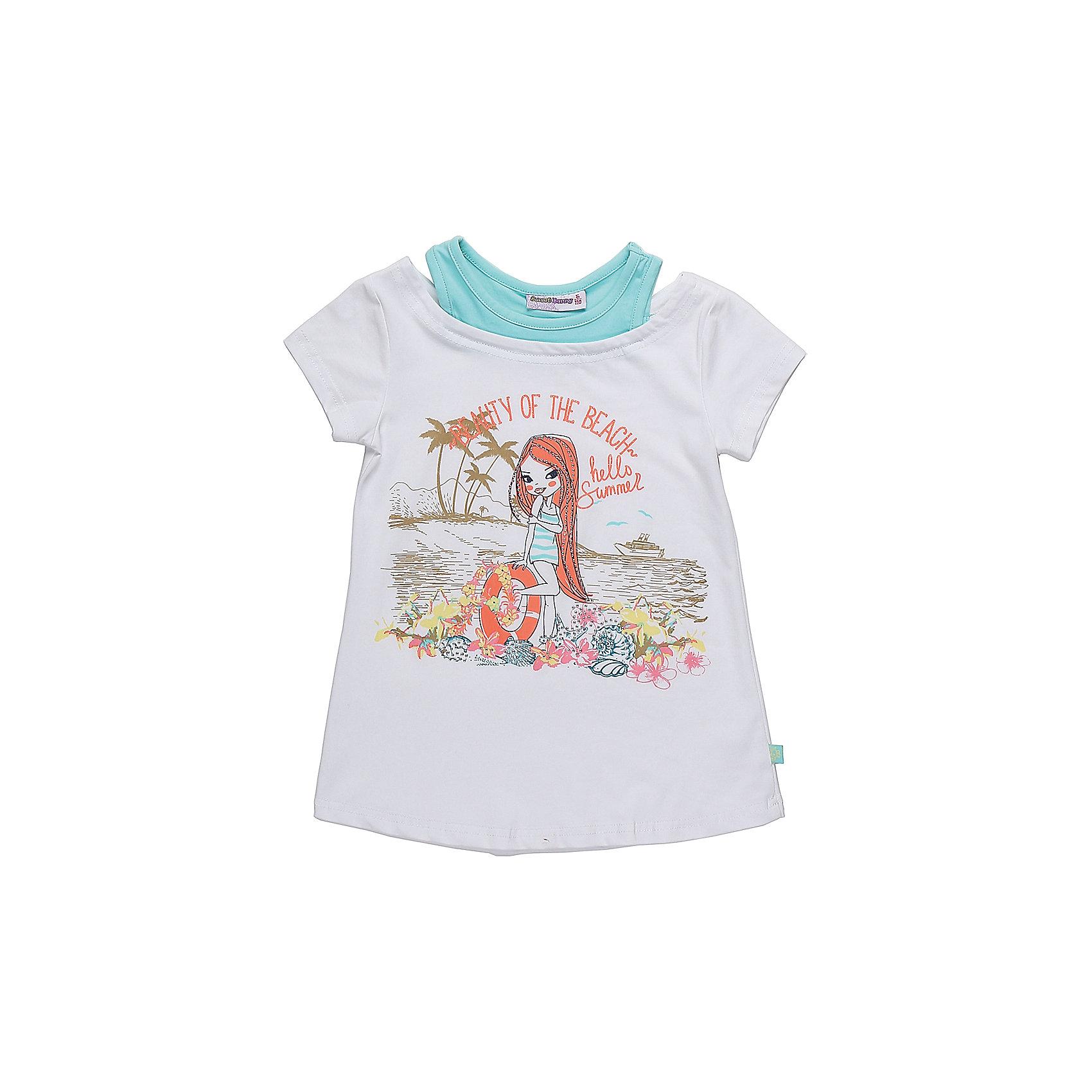 Футболка для девочки Sweet BerryСтильная футболка из трикотажной ткани для девочки с коротким рукавом. Декорирована оригинальным принтом.<br>Состав:<br>95%хлопок 5%эластан<br><br>Ширина мм: 199<br>Глубина мм: 10<br>Высота мм: 161<br>Вес г: 151<br>Цвет: белый<br>Возраст от месяцев: 36<br>Возраст до месяцев: 48<br>Пол: Женский<br>Возраст: Детский<br>Размер: 104,98,110,116,122,128<br>SKU: 5412675
