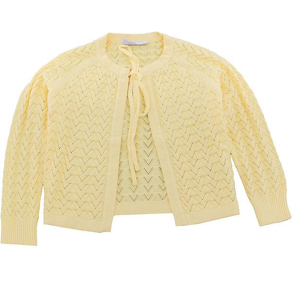 Кардиган для девочки Sweet BerryСвитера и кардиганы<br>Вязаный, ажурный жакет для девочки с длинным рукавом. Застегивается на завязки<br>Состав:<br>100% хлопок<br><br>Ширина мм: 190<br>Глубина мм: 74<br>Высота мм: 229<br>Вес г: 236<br>Цвет: желтый<br>Возраст от месяцев: 24<br>Возраст до месяцев: 36<br>Пол: Женский<br>Возраст: Детский<br>Размер: 98,104,128,122,116,110<br>SKU: 5412703