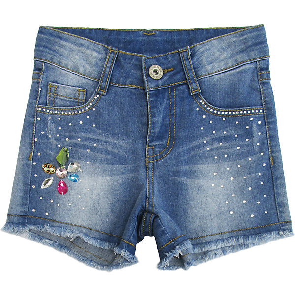 Шорты джинсовые для девочки Sweet BerryДжинсовая одежда<br>Джинсовые шорты для девочки. Декорированы яркой аппликацией и стразами. Застегиваются на молнию и пуговицу.   В боковой части пояса находятся вшитые эластичные ленты, регулирующие посадку по талии.<br>Состав:<br>98%хлопок 2%эластан<br>Ширина мм: 191; Глубина мм: 10; Высота мм: 175; Вес г: 273; Цвет: голубой; Возраст от месяцев: 48; Возраст до месяцев: 60; Пол: Женский; Возраст: Детский; Размер: 110,98,104,128,122,116; SKU: 5412724;