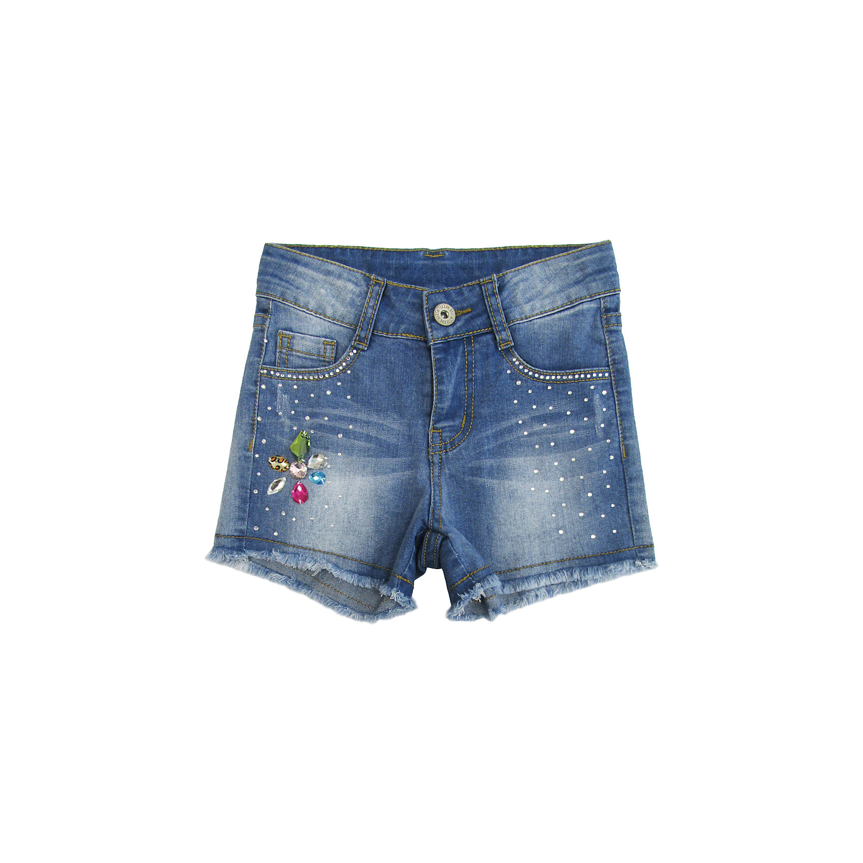 Шорты джинсовые для девочки Sweet BerryДжинсовая одежда<br>Джинсовые шорты для девочки. Декорированы яркой аппликацией и стразами. Застегиваются на молнию и пуговицу.   В боковой части пояса находятся вшитые эластичные ленты, регулирующие посадку по талии.<br>Состав:<br>98%хлопок 2%эластан<br><br>Ширина мм: 191<br>Глубина мм: 10<br>Высота мм: 175<br>Вес г: 273<br>Цвет: голубой<br>Возраст от месяцев: 24<br>Возраст до месяцев: 36<br>Пол: Женский<br>Возраст: Детский<br>Размер: 98,104,128,122,116,110<br>SKU: 5412724