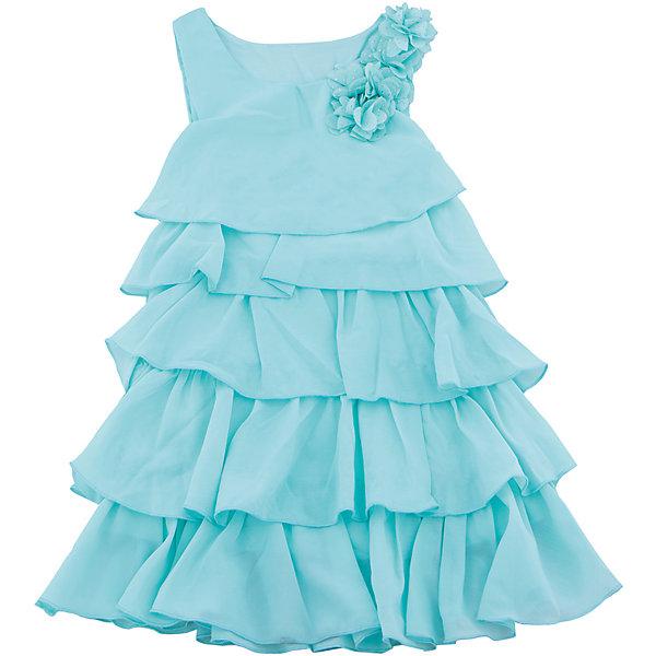 Платье для девочки Sweet BerryОдежда<br>Стильное платье для девочки из многослойной ткани. Лиф платья декорирован цветами. Свободный крой.<br>Состав:<br>Верх: 100% полиэстер, Подкладка: 100%хлопок<br><br>Ширина мм: 236<br>Глубина мм: 16<br>Высота мм: 184<br>Вес г: 177<br>Цвет: голубой<br>Возраст от месяцев: 24<br>Возраст до месяцев: 36<br>Пол: Женский<br>Возраст: Детский<br>Размер: 98,104,128,122,116,110<br>SKU: 5412741