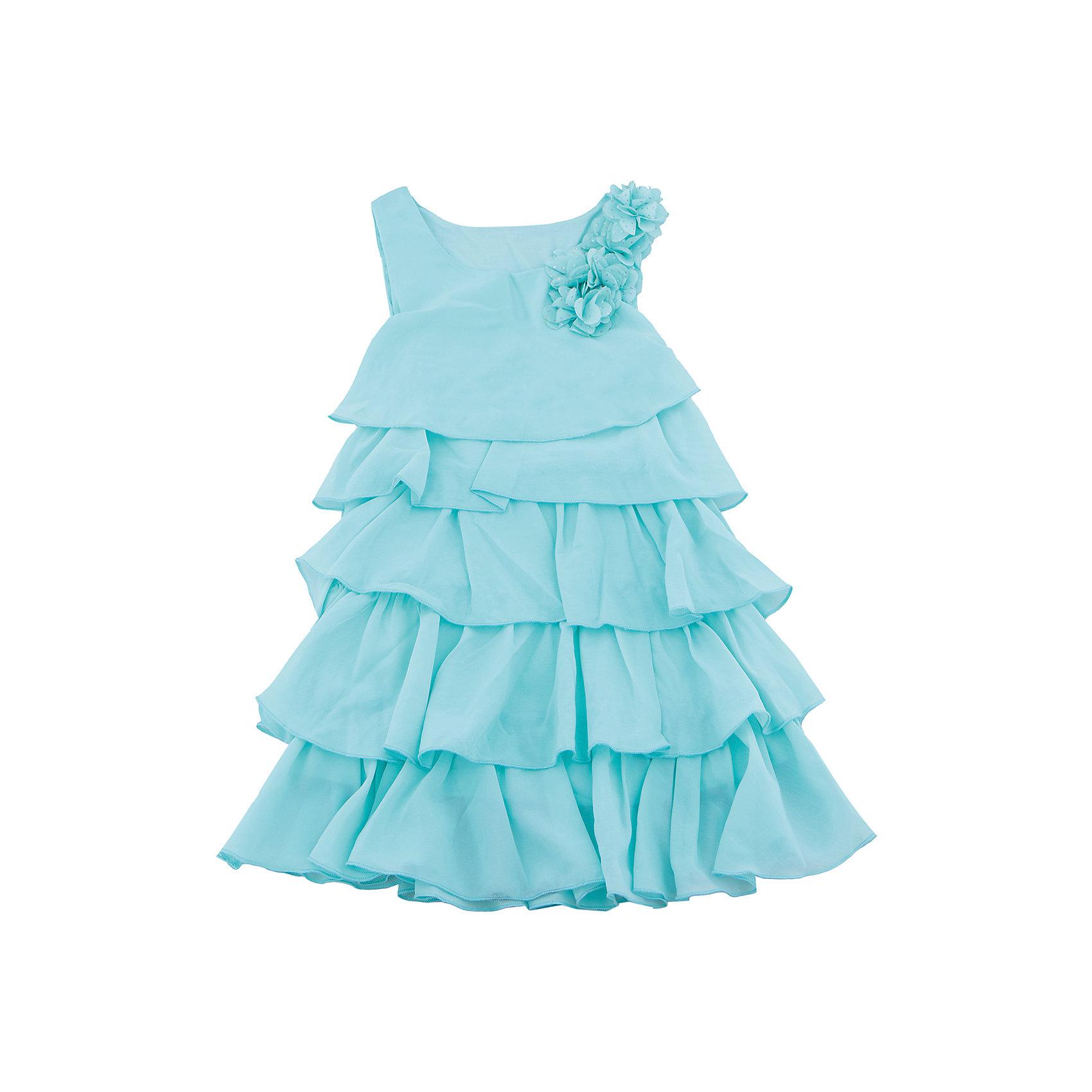 Платье для девочки Sweet BerryОдежда<br>Стильное платье для девочки из многослойной ткани. Лиф платья декорирован цветами. Свободный крой.<br>Состав:<br>Верх: 100% полиэстер, Подкладка: 100%хлопок<br><br>Ширина мм: 236<br>Глубина мм: 16<br>Высота мм: 184<br>Вес г: 177<br>Цвет: голубой<br>Возраст от месяцев: 24<br>Возраст до месяцев: 36<br>Пол: Женский<br>Возраст: Детский<br>Размер: 98,110,116,122,128,104<br>SKU: 5412741