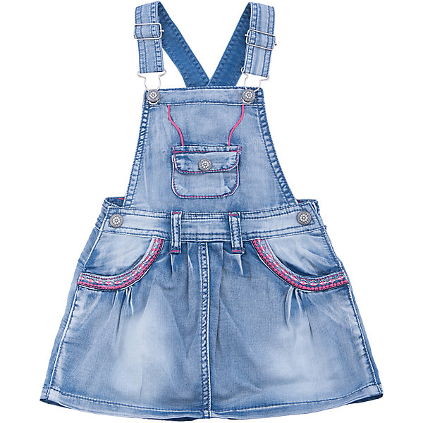 Сарафан джинсовый для девочки Sweet BerryДжинсовая одежда<br>Джинсовый сарафан на регулируемых бретелях. Карманы декорированы разноцветной вышивкой.<br>Состав:<br>100%хлопок<br><br>Ширина мм: 236<br>Глубина мм: 16<br>Высота мм: 184<br>Вес г: 177<br>Цвет: голубой<br>Возраст от месяцев: 24<br>Возраст до месяцев: 36<br>Пол: Женский<br>Возраст: Детский<br>Размер: 98,104,128,122,116,110<br>SKU: 5412755