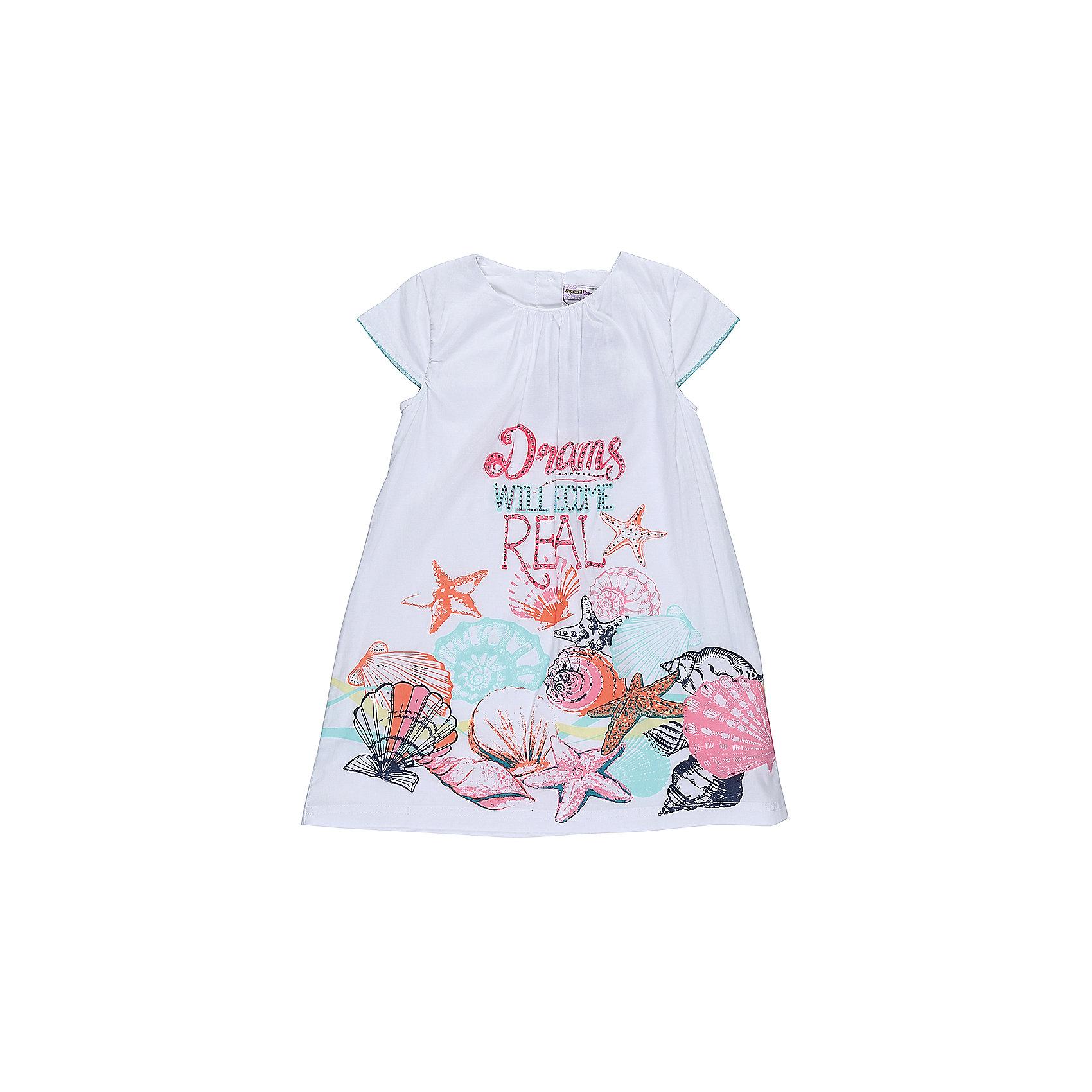 Платье для девочки Sweet BerryПлатья и сарафаны<br>Легкое, хлопковое платье для девочки свободного кроя. Декарированно оригинальным принтом. Застегивается на пуговки на спинке.<br>Состав:<br>Верх: 100% хлопок, Подкладка: 100%хлопок<br><br>Ширина мм: 236<br>Глубина мм: 16<br>Высота мм: 184<br>Вес г: 177<br>Цвет: белый<br>Возраст от месяцев: 36<br>Возраст до месяцев: 48<br>Пол: Женский<br>Возраст: Детский<br>Размер: 104,98,110,116,122,128<br>SKU: 5412762