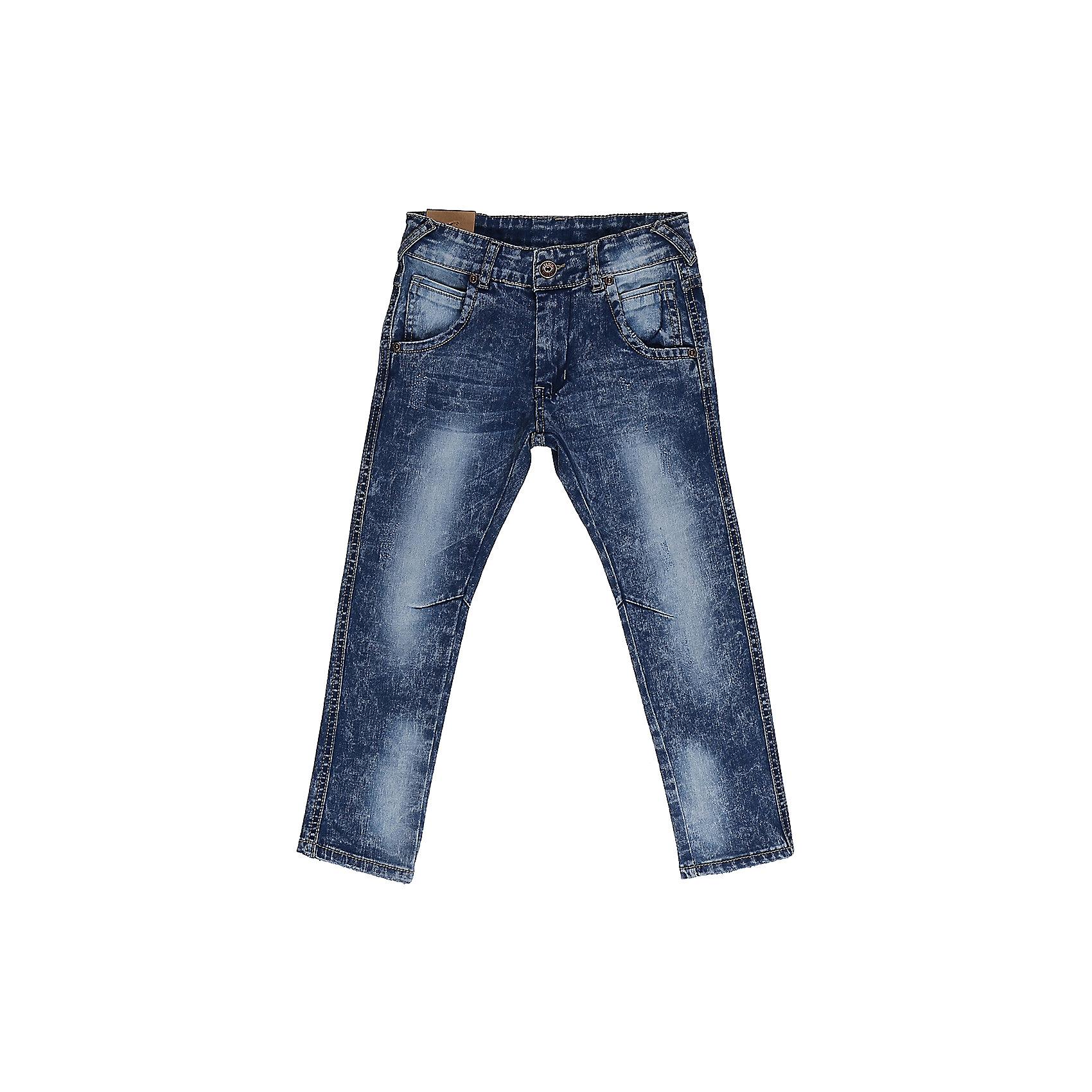 Джинсы для мальчика Sweet BerryДжинсовая одежда<br>Джинсы  для мальчика с оригинальной варкой. Зауженный крой, средняя посадка. Застегиваются на молнию и пуговицу. Шлевки на поясе рассчитаны под ремень. В боковой части пояса находятся вшитые эластичные ленты, регулирующие посадку по талии.<br>Состав:<br>98%хлопок 2%эластан<br><br>Ширина мм: 215<br>Глубина мм: 88<br>Высота мм: 191<br>Вес г: 336<br>Цвет: синий<br>Возраст от месяцев: 36<br>Возраст до месяцев: 48<br>Пол: Мужской<br>Возраст: Детский<br>Размер: 104,98,110,116,122,128<br>SKU: 5412913