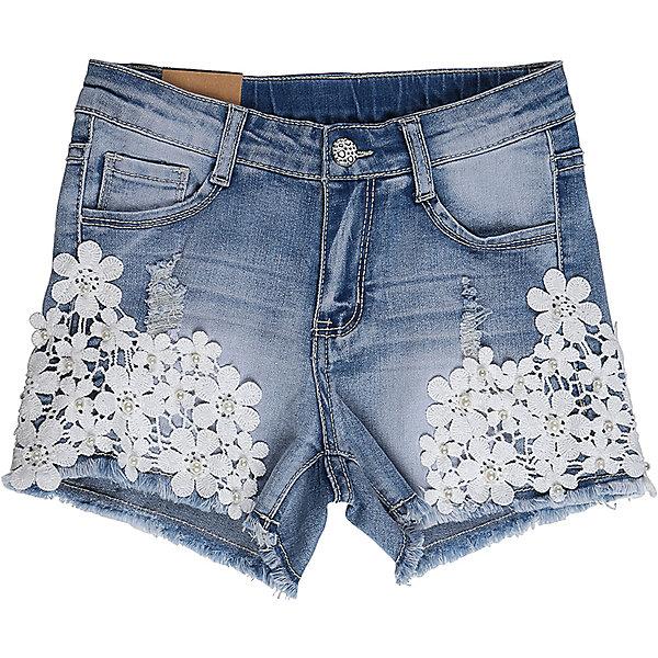 Шорты джинсовые для девочки LuminosoДжинсовая одежда<br>Джинсовые шорты для девочки Декорированые плетеным кружевом по бокам штани. Застегиваются на молнию и пуговицу.  В боковой части пояса находятся вшитые эластичные ленты, регулирующие посадку по талии.<br>Состав:<br>98%хлопок 2%эластан<br>Ширина мм: 191; Глубина мм: 10; Высота мм: 175; Вес г: 273; Цвет: голубой; Возраст от месяцев: 96; Возраст до месяцев: 108; Пол: Женский; Возраст: Детский; Размер: 134,140,146,152,158,164; SKU: 5412982;