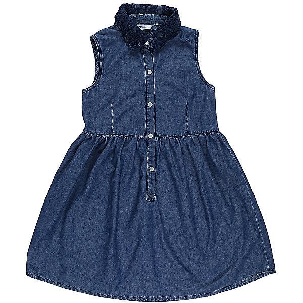 Платье джинсовое для девочки LuminosoДжинсовая одежда<br>Платье для девочки из тонкого хлопка под джину с отлаженным воротничком. воротничок декорирован кружевным плетением. Застегивается на кнопки. Приталенный крой.<br>Состав:<br>100%хлопок<br>Ширина мм: 236; Глубина мм: 16; Высота мм: 184; Вес г: 177; Цвет: синий; Возраст от месяцев: 108; Возраст до месяцев: 120; Пол: Женский; Возраст: Детский; Размер: 140,134,164,158,152,146; SKU: 5412996;
