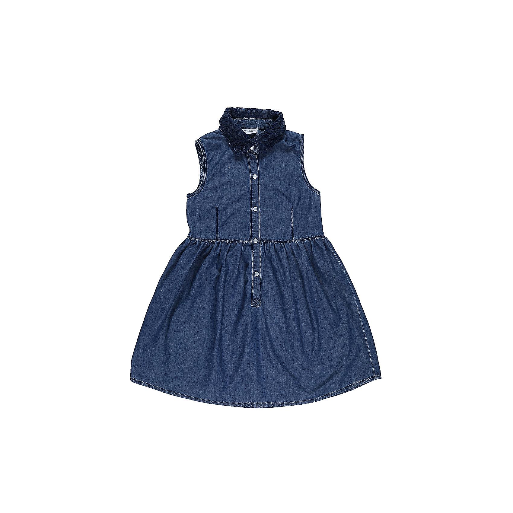 Платье джинсовое для девочки LuminosoДжинсовая одежда<br>Платье для девочки из тонкого хлопка под джину с отлаженным воротничком. воротничок декорирован кружевным плетением. Застегивается на кнопки. Приталенный крой.<br>Состав:<br>100%хлопок<br><br>Ширина мм: 236<br>Глубина мм: 16<br>Высота мм: 184<br>Вес г: 177<br>Цвет: синий<br>Возраст от месяцев: 96<br>Возраст до месяцев: 108<br>Пол: Женский<br>Возраст: Детский<br>Размер: 134,140,146,152,158,164<br>SKU: 5412996