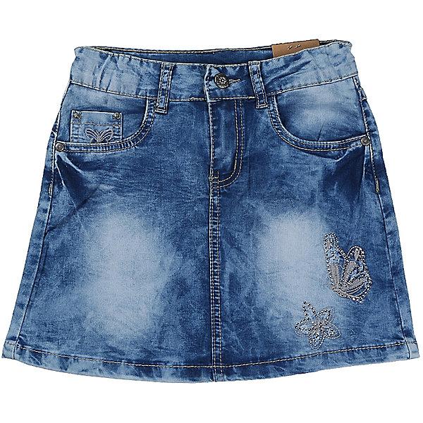 Юбка джинсовая для девочки LuminosoЮбки<br>Джинсовая юбка оригинальной варки  для девочки. Декорирована оригинальной вышивкой. Пояс с регулировкой внутренней резинкой.<br>Состав:<br>98%хлопок 2%эластан<br>Ширина мм: 207; Глубина мм: 10; Высота мм: 189; Вес г: 183; Цвет: синий; Возраст от месяцев: 156; Возраст до месяцев: 168; Пол: Женский; Возраст: Детский; Размер: 164,140,134,158,152,146; SKU: 5413007;