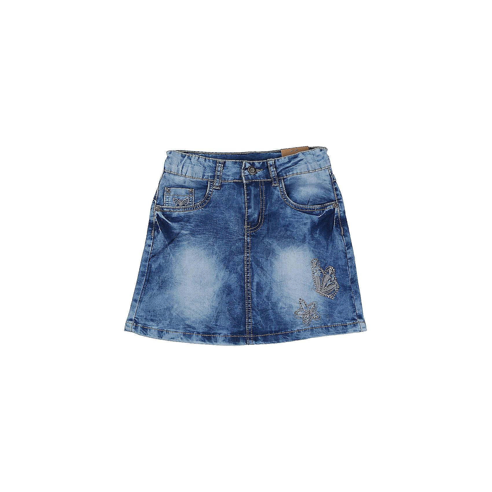Юбка джинсовая для девочки LuminosoЮбки<br>Джинсовая юбка оригинальной варки  для девочки. Декорирована оригинальной вышивкой. Пояс с регулировкой внутренней резинкой.<br>Состав:<br>98%хлопок 2%эластан<br><br>Ширина мм: 207<br>Глубина мм: 10<br>Высота мм: 189<br>Вес г: 183<br>Цвет: синий<br>Возраст от месяцев: 108<br>Возраст до месяцев: 120<br>Пол: Женский<br>Возраст: Детский<br>Размер: 140,134,164,158,152,146<br>SKU: 5413007