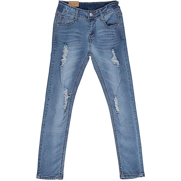 Джинсы для девочки LuminosoДжинсы<br>Джинсы  для девочки с оригинальной варкой, эффектами потертости и рваной джинсы. Имеют зауженный крой, среднюю посадку. Застегиваются на молнию и пуговицу. Шлевки на поясе рассчитаны под ремень. В боковой части пояса находятся вшитые эластичные ленты, регулирующие посадку по талии.<br>Состав:<br>98%хлопок 2%эластан<br><br>Ширина мм: 215<br>Глубина мм: 88<br>Высота мм: 191<br>Вес г: 336<br>Цвет: голубой<br>Возраст от месяцев: 96<br>Возраст до месяцев: 108<br>Пол: Женский<br>Возраст: Детский<br>Размер: 134,140,164,158,152,146<br>SKU: 5413014