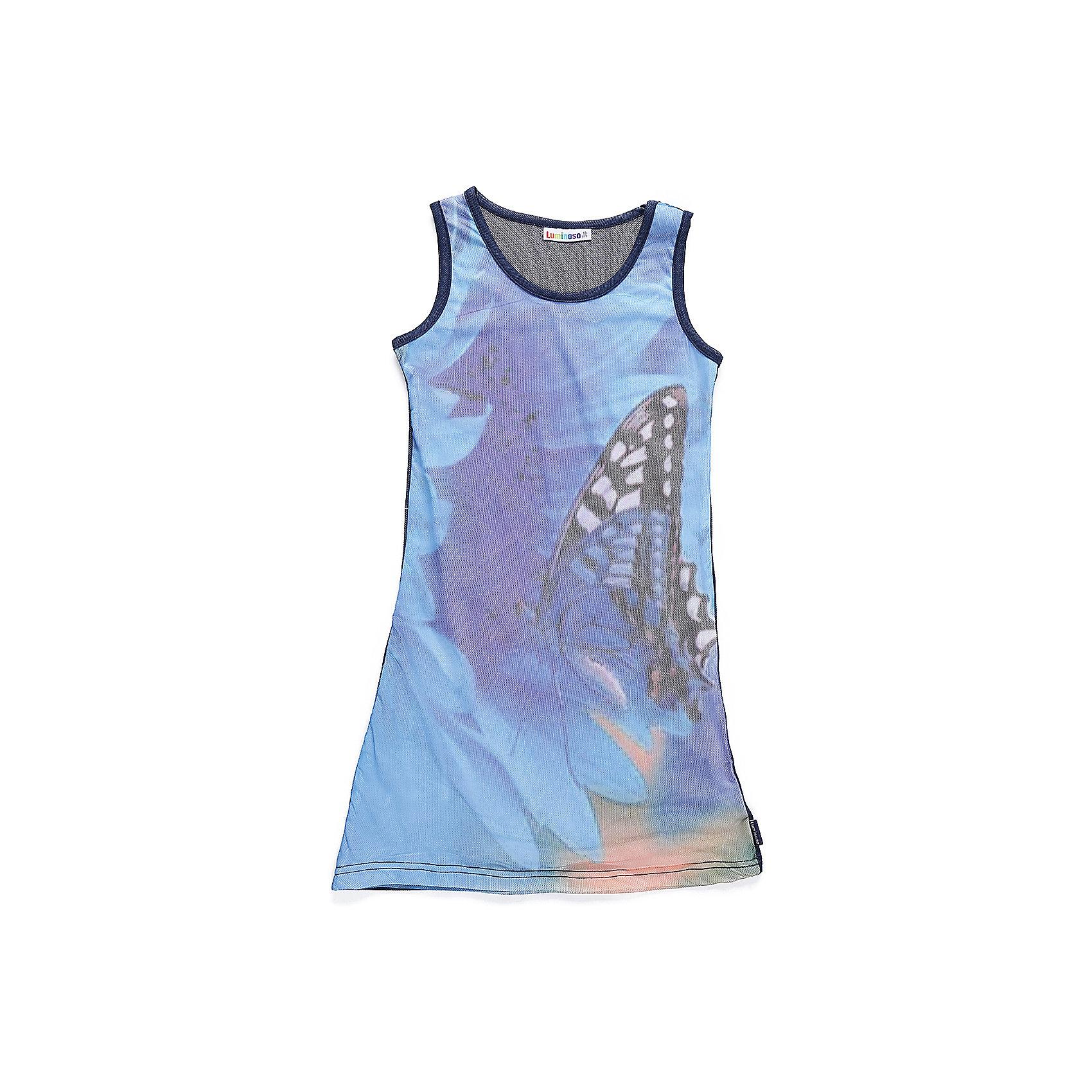 Платье для девочки LuminosoПлатья и сарафаны<br>Платье-туника с 3D эффектом. Приталенный крой.<br>Состав:<br>95%хлопок 5%эластан<br><br>Ширина мм: 236<br>Глубина мм: 16<br>Высота мм: 184<br>Вес г: 177<br>Цвет: голубой<br>Возраст от месяцев: 96<br>Возраст до месяцев: 108<br>Пол: Женский<br>Возраст: Детский<br>Размер: 134,140,146,152,158,164<br>SKU: 5413066