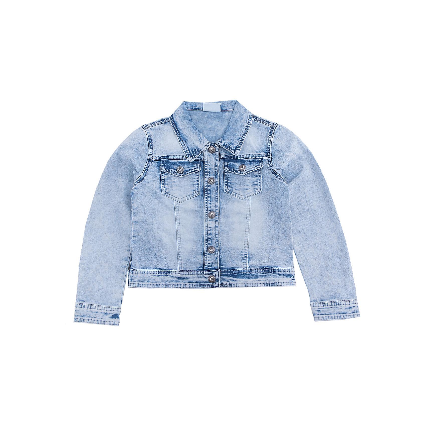 Куртка джинсовая для девочки LuminosoДжинсовая одежда<br>Модная джинсовая куртка для девочки с оригинальной варкой. Застегивается на пуговицы. На груди два накладных кармана.  Воротник отложной.<br>Состав:<br>98%хлопок 2%эластан<br><br>Ширина мм: 356<br>Глубина мм: 10<br>Высота мм: 245<br>Вес г: 519<br>Цвет: белый<br>Возраст от месяцев: 96<br>Возраст до месяцев: 108<br>Пол: Женский<br>Возраст: Детский<br>Размер: 134,140,146,152,158,164<br>SKU: 5413087