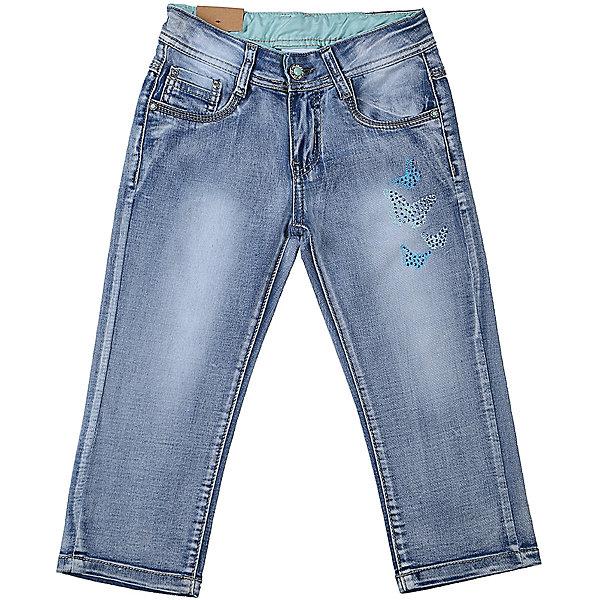 Бриджи джинсовые для девочки LuminosoДжинсовая одежда<br>Джинсовые бриджи для девочки с оригинальной варкой. Декорированые стразами и принтом. Застегиваются на молнию и пуговицу. Имеют зауженный крой, среднюю посадку. Шлевки на поясе рассчитаны под ремень. В боковой части пояса находятся вшитые эластичные ленты, регулирующие посадку по талии.<br>Состав:<br>98%хлопок 2%эластан<br>Ширина мм: 191; Глубина мм: 10; Высота мм: 175; Вес г: 273; Цвет: синий; Возраст от месяцев: 96; Возраст до месяцев: 108; Пол: Женский; Возраст: Детский; Размер: 134,140,146,152,158,164; SKU: 5413115;