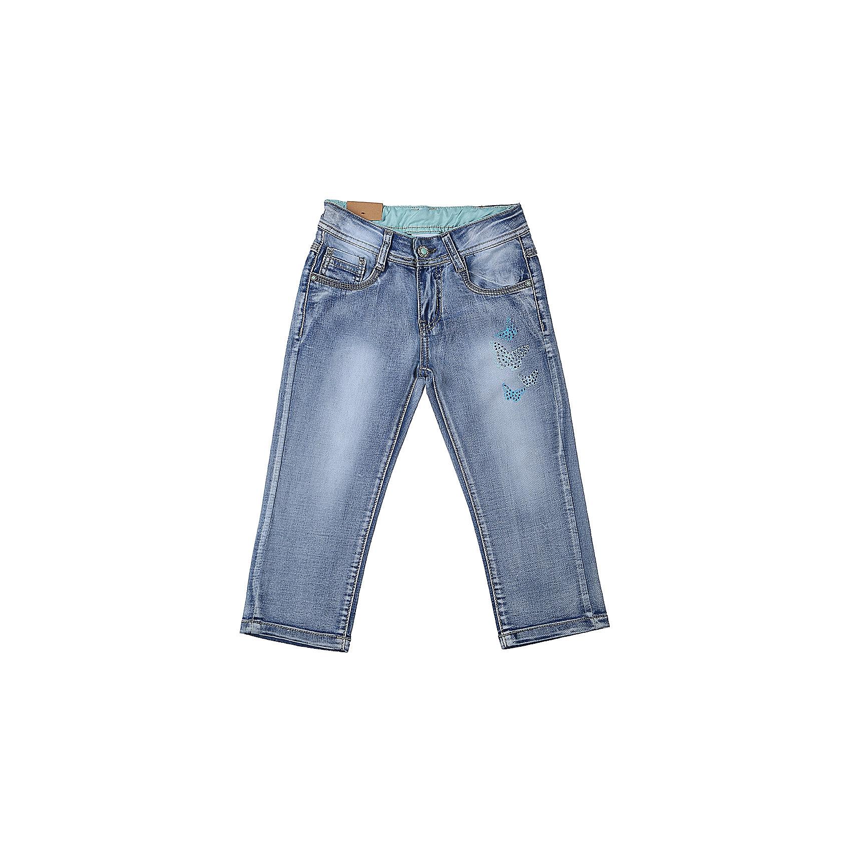 Бриджи джинсовые для девочки LuminosoДжинсовая одежда<br>Джинсовые бриджи для девочки с оригинальной варкой. Декорированые стразами и принтом. Застегиваются на молнию и пуговицу. Имеют зауженный крой, среднюю посадку. Шлевки на поясе рассчитаны под ремень. В боковой части пояса находятся вшитые эластичные ленты, регулирующие посадку по талии.<br>Состав:<br>98%хлопок 2%эластан<br><br>Ширина мм: 191<br>Глубина мм: 10<br>Высота мм: 175<br>Вес г: 273<br>Цвет: синий<br>Возраст от месяцев: 108<br>Возраст до месяцев: 120<br>Пол: Женский<br>Возраст: Детский<br>Размер: 140,134,164,158,152,146<br>SKU: 5413115