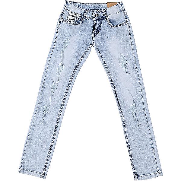 Джинсы для девочки LuminosoДжинсовая одежда<br>Джинсы  для девочки с оригинальной варкой, эффектами потертости и рваной джинсы. Имеют зауженный крой, среднюю посадку. Застегиваются на молнию и пуговицу. Шлевки на поясе рассчитаны под ремень. В боковой части пояса находятся вшитые эластичные ленты, регулирующие посадку по талии.<br>Состав:<br>98%хлопок 2%эластан<br><br>Ширина мм: 215<br>Глубина мм: 88<br>Высота мм: 191<br>Вес г: 336<br>Цвет: белый<br>Возраст от месяцев: 96<br>Возраст до месяцев: 108<br>Пол: Женский<br>Возраст: Детский<br>Размер: 134,140,164,158,152,146<br>SKU: 5413143