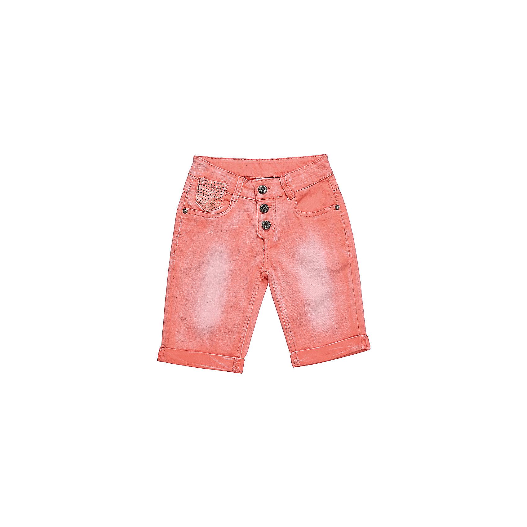 Шорты джинсовые для девочки LuminosoДжинсовая одежда<br>Коралловые шорты для девочки с модной застежкой. Два боковых кармана. В боковой части пояса находятся вшитые эластичные ленты, регулирующие посадку по талии.<br>Состав:<br>98%хлопок 2%эластан<br><br>Ширина мм: 191<br>Глубина мм: 10<br>Высота мм: 175<br>Вес г: 273<br>Цвет: розовый<br>Возраст от месяцев: 120<br>Возраст до месяцев: 132<br>Пол: Женский<br>Возраст: Детский<br>Размер: 152,158,164,134,140,146<br>SKU: 5413161