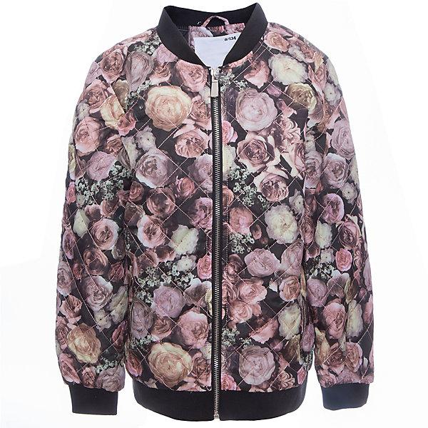Куртка для девочки LuminosoВерхняя одежда<br>Стильная, стеганая куртка для девочки с воротником-стойкой декорированная цветочным принтом. Два прорезных карманы. Застегивается на молнию.<br>Состав:<br>Верх: 100%полиэстер.  Подкладка: 100%полиэстер. Наполнитель: 100%полиэстер<br>Ширина мм: 356; Глубина мм: 10; Высота мм: 245; Вес г: 519; Цвет: черный; Возраст от месяцев: 96; Возраст до месяцев: 108; Пол: Женский; Возраст: Детский; Размер: 134,140,146,152,158,164; SKU: 5413186;