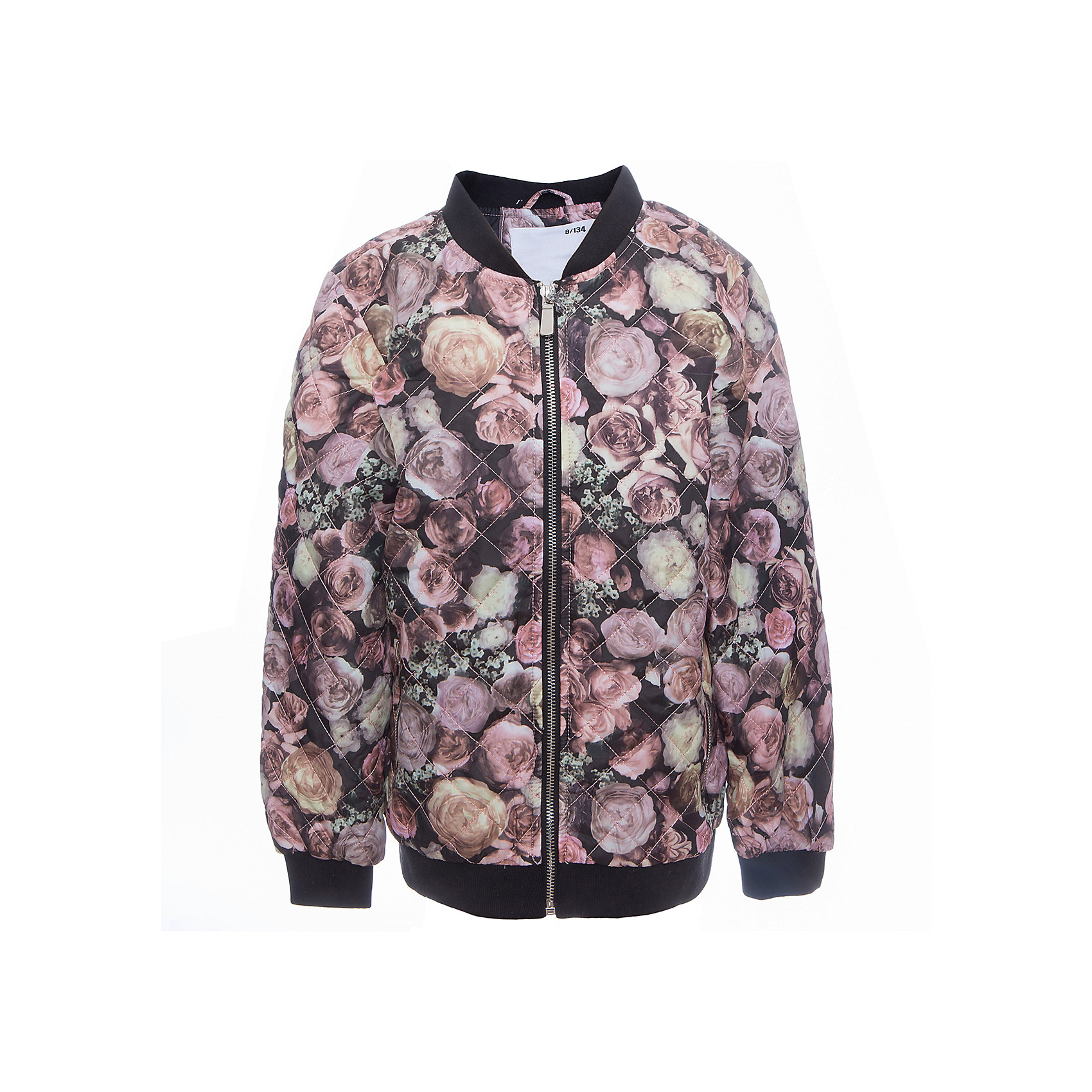 Куртка для девочки LuminosoСтильная, стеганая куртка для девочки с воротником-стойкой декорированная цветочным принтом. Два прорезных карманы. Застегивается на молнию.<br>Состав:<br>Верх: 100%полиэстер.  Подкладка: 100%полиэстер. Наполнитель: 100%полиэстер<br><br>Ширина мм: 356<br>Глубина мм: 10<br>Высота мм: 245<br>Вес г: 519<br>Цвет: черный<br>Возраст от месяцев: 96<br>Возраст до месяцев: 108<br>Пол: Женский<br>Возраст: Детский<br>Размер: 134,140,146,152,158,164<br>SKU: 5413186