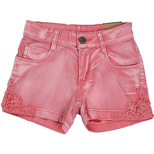 Шорты джинсовые для девочки LuminosoДжинсовая одежда<br>Коралловые шорты для девочки декорированой плетеным кружевом. Два боковых кармана. В боковой части пояса находятся вшитые эластичные ленты, регулирующие посадку по талии.<br>Состав:<br>98%хлопок 2%эластан<br><br>Ширина мм: 191<br>Глубина мм: 10<br>Высота мм: 175<br>Вес г: 273<br>Цвет: розовый<br>Возраст от месяцев: 108<br>Возраст до месяцев: 120<br>Пол: Женский<br>Возраст: Детский<br>Размер: 140,134,164,158,152,146<br>SKU: 5413263