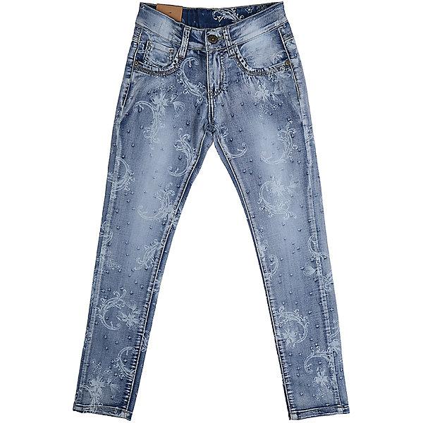 Джинсы для девочки LuminosoДжинсовая одежда<br>Джинсы  для девочки с оригинальной варкой и цветочным принтом. Имеют зауженный крой, среднюю посадку. Застегиваются на молнию и пуговицу. Шлевки на поясе рассчитаны под ремень. В боковой части пояса находятся вшитые эластичные ленты, регулирующие посадку по талии.<br>Состав:<br>98%хлопок 2%эластан<br>Ширина мм: 215; Глубина мм: 88; Высота мм: 191; Вес г: 336; Цвет: голубой; Возраст от месяцев: 156; Возраст до месяцев: 168; Пол: Женский; Возраст: Детский; Размер: 164,140,134,158,152,146; SKU: 5413277;
