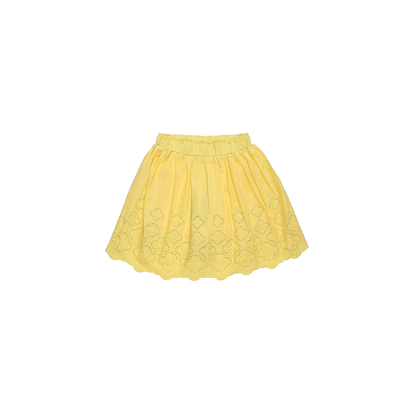 Юбка для девочки LuminosoЯркая текстильная юбка для девочки. Низ изделия декорирован  изящной вышивкой. Эластичный мягкий пояс.<br>Состав:<br>Верх: 100% хлопок, Подкладка: 100%хлопок<br><br>Ширина мм: 207<br>Глубина мм: 10<br>Высота мм: 189<br>Вес г: 183<br>Цвет: желтый<br>Возраст от месяцев: 108<br>Возраст до месяцев: 120<br>Пол: Женский<br>Возраст: Детский<br>Размер: 140,134,146,152,158,164<br>SKU: 5413284