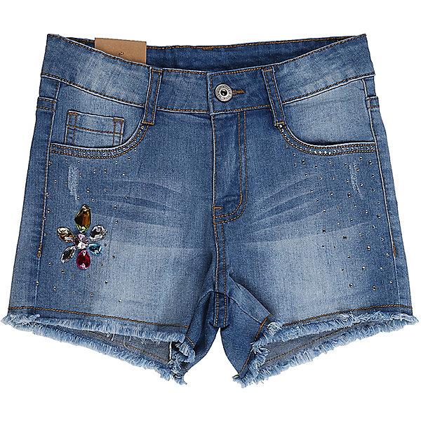Шорты джинсовые для девочки Sweet BerryДжинсовая одежда<br>Джинсовые шорты для девочки Декорированые крупными стразами. Застегиваются на молнию и пуговицу.  В боковой части пояса находятся вшитые эластичные ленты, регулирующие посадку по талии.<br>Состав:<br>98%хлопок 2%эластан<br><br>Ширина мм: 191<br>Глубина мм: 10<br>Высота мм: 175<br>Вес г: 273<br>Цвет: голубой<br>Возраст от месяцев: 108<br>Возраст до месяцев: 120<br>Пол: Женский<br>Возраст: Детский<br>Размер: 140,134,164,158,152,146<br>SKU: 5413305