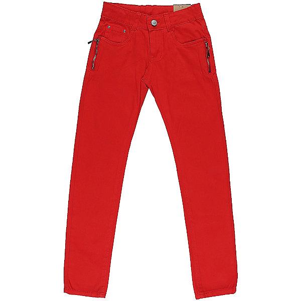 Брюки для девочки LuminosoБрюки<br>Яркие джинсовые брюки для девочки Декорированые двумя молниями по бокам карманов. Зауженный крой. Застегиваются на молнию и пуговицу. Шлевки на поясе рассчитаны под ремень. В боковой части пояса находятся вшитые эластичные ленты, регулирующие посадку по талии.<br>Состав:<br>98%хлопок 2%эластан<br>Ширина мм: 215; Глубина мм: 88; Высота мм: 191; Вес г: 336; Цвет: красный; Возраст от месяцев: 96; Возраст до месяцев: 108; Пол: Женский; Возраст: Детский; Размер: 134,152,164,158,146,140; SKU: 5413333;