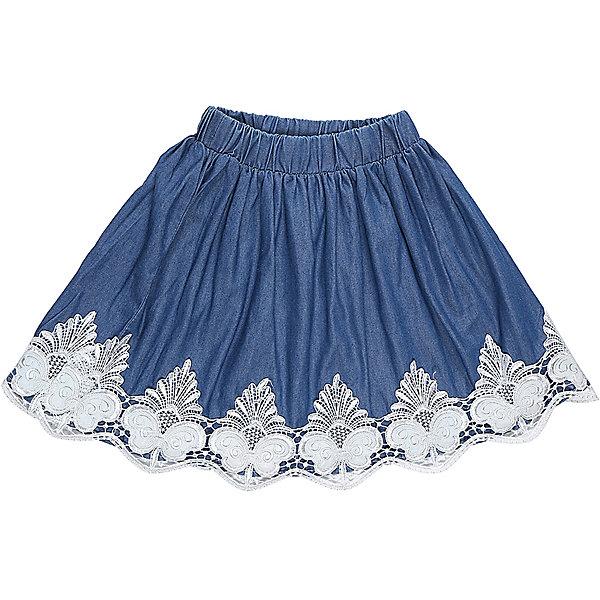 Юбка для девочки LuminosoОдежда<br>Текстильная юбка для девочки под джинсу. Низ изделия декорирован изящной вышиквкой и экокожей. Эластичный мягкий пояс.<br>Состав:<br>100%хлопок<br><br>Ширина мм: 207<br>Глубина мм: 10<br>Высота мм: 189<br>Вес г: 183<br>Цвет: синий<br>Возраст от месяцев: 108<br>Возраст до месяцев: 120<br>Пол: Женский<br>Возраст: Детский<br>Размер: 140,134,164,158,152,146<br>SKU: 5413340