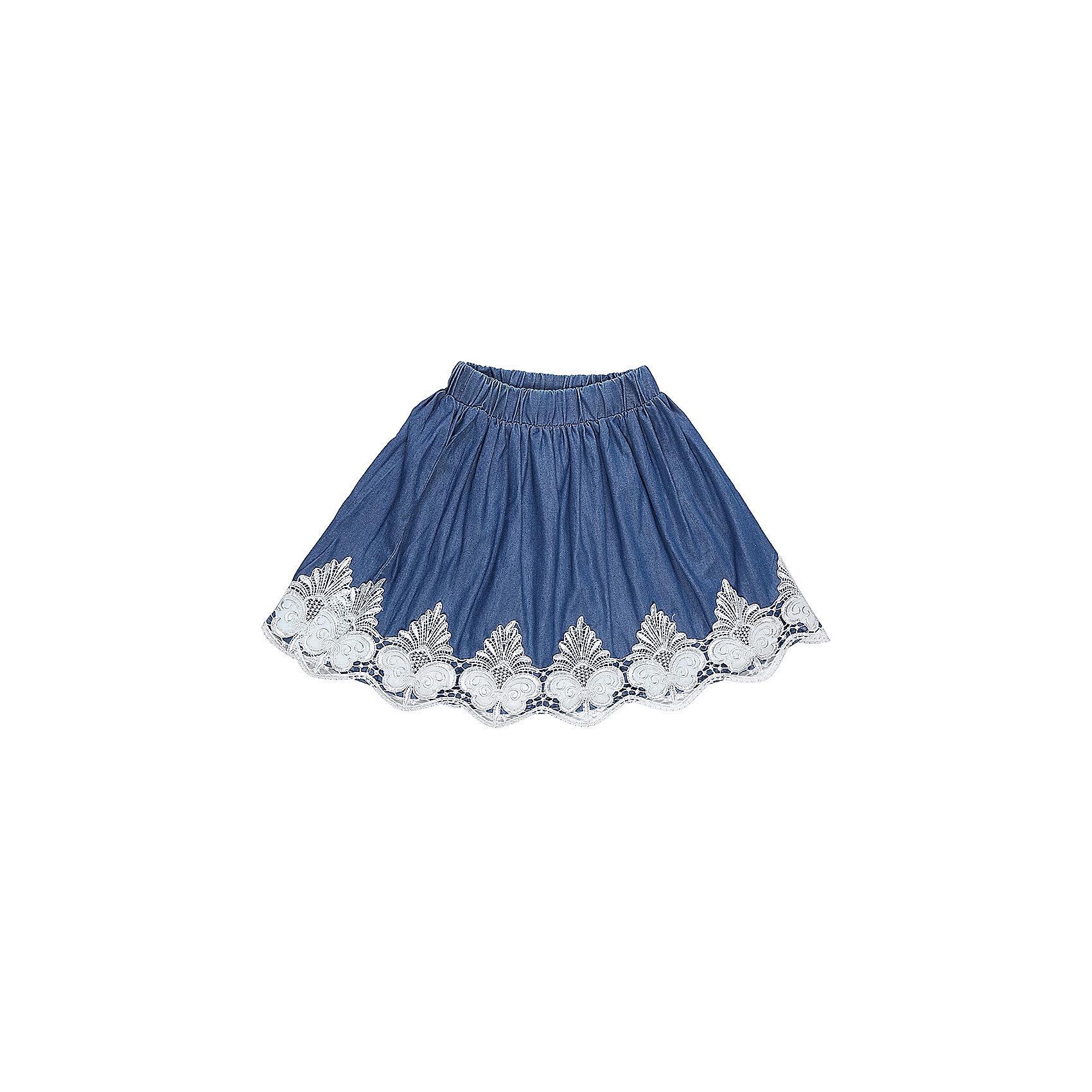 Юбка для девочки LuminosoОдежда<br>Текстильная юбка для девочки под джинсу. Низ изделия декорирован изящной вышиквкой и экокожей. Эластичный мягкий пояс.<br>Состав:<br>100%хлопок<br><br>Ширина мм: 207<br>Глубина мм: 10<br>Высота мм: 189<br>Вес г: 183<br>Цвет: синий<br>Возраст от месяцев: 96<br>Возраст до месяцев: 108<br>Пол: Женский<br>Возраст: Детский<br>Размер: 134,140,146,152,158,164<br>SKU: 5413340