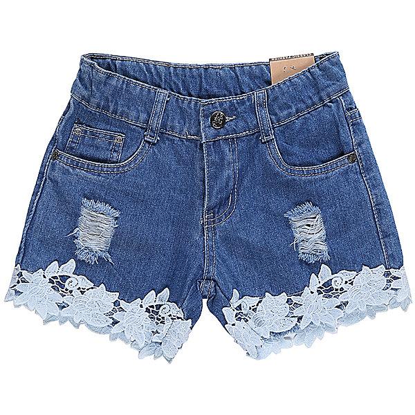 Шорты джинсовые для девочки LuminosoШорты, бриджи, капри<br>Джинсовые шорты для девочки Декорированые плетеным кружевом по низу изделия и эффектом рваной джинсы. Застегиваются на молнию и пуговицу.  В боковой части пояса находятся вшитые эластичные ленты, регулирующие посадку по талии.<br>Состав:<br>100%хлопок<br>Ширина мм: 191; Глубина мм: 10; Высота мм: 175; Вес г: 273; Цвет: синий; Возраст от месяцев: 108; Возраст до месяцев: 120; Пол: Женский; Возраст: Детский; Размер: 140,134,164,158,152,146; SKU: 5413497;