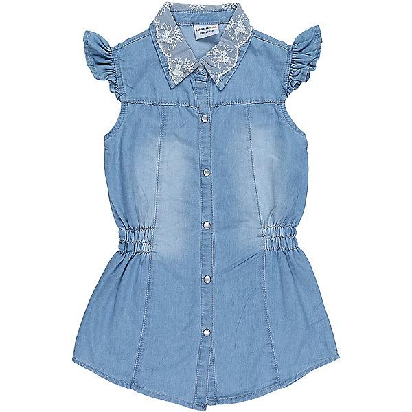 Блузка джинсовая для девочки LuminosoБлузки и рубашки<br>Удлиненная, приталенная блузка для девочки из облегченной джинсовой ткани. Рукава крылышки. Отложной воротничок декорированн кружевом. Застегивается на кнопки.<br>Состав:<br>100%хлопок<br>Ширина мм: 186; Глубина мм: 87; Высота мм: 198; Вес г: 197; Цвет: голубой; Возраст от месяцев: 108; Возраст до месяцев: 120; Пол: Женский; Возраст: Детский; Размер: 140,134,164,158,152,146; SKU: 5413504;
