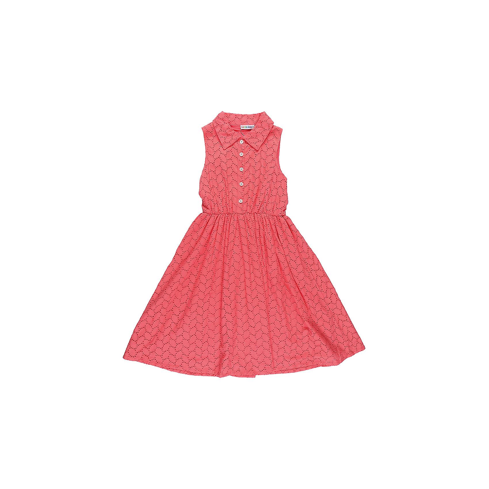 Платье для девочки LuminosoПлатья и сарафаны<br>Хлопкое платье для девочки из вышитого полотна с отложным воротничком. Декорирован пуговками. Приталенный крой.<br>Состав:<br>Верх: 100% хлопок, Подкладка: 100%хлопок<br><br>Ширина мм: 236<br>Глубина мм: 16<br>Высота мм: 184<br>Вес г: 177<br>Цвет: красный<br>Возраст от месяцев: 108<br>Возраст до месяцев: 120<br>Пол: Женский<br>Возраст: Детский<br>Размер: 146,152,158,164,134,140<br>SKU: 5413550