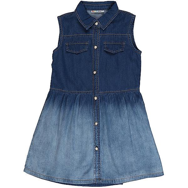 Платье джинсовое для девочки LuminosoДжинсовая одежда<br>Платье из тонкого хлопка под джинсу для девочки с отложным воротничком. Застегивается на оригинальные пуговки.<br>Состав:<br>98%хлопок 2%эластан<br>Ширина мм: 236; Глубина мм: 16; Высота мм: 184; Вес г: 177; Цвет: синий; Возраст от месяцев: 108; Возраст до месяцев: 120; Пол: Женский; Возраст: Детский; Размер: 140,134,164,158,152,146; SKU: 5413559;
