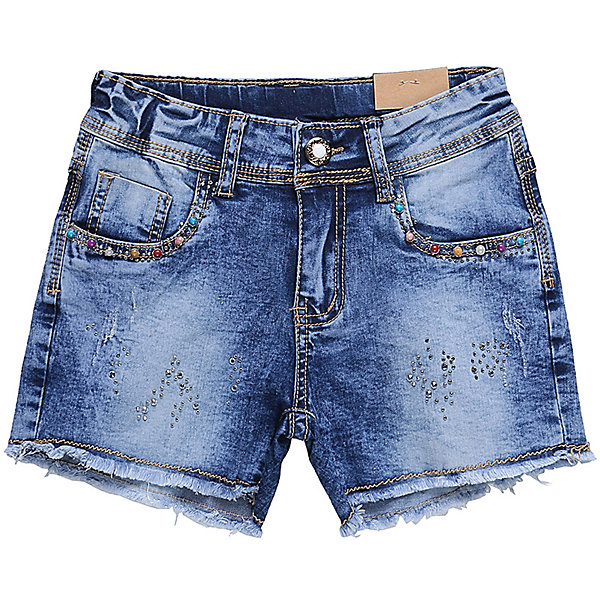 Шорты джинсовые для девочки LuminosoДжинсовая одежда<br>Джинсовые шорты для девочки. Декорированы яркими стразами. Застегиваются на молнию и пуговицу.   В боковой части пояса находятся вшитые эластичные ленты, регулирующие посадку по талии.<br>Состав:<br>98%хлопок 2%эластан<br>Ширина мм: 191; Глубина мм: 10; Высота мм: 175; Вес г: 273; Цвет: синий; Возраст от месяцев: 96; Возраст до месяцев: 108; Пол: Женский; Возраст: Детский; Размер: 134,140,164,158,152,146; SKU: 5413591;