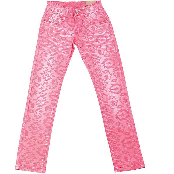 Брюки для девочки LuminosoБрюки<br>Стильные джинсовые брюки для девочки. Зауженный крой. Застегиваются на молнию и пуговицу. Шлевки на поясе рассчитаны под ремень. В боковой части пояса находятся вшитые эластичные ленты, регулирующие посадку по талии.<br>Состав:<br>98%хлопок 2%эластан<br>Ширина мм: 215; Глубина мм: 88; Высота мм: 191; Вес г: 336; Цвет: розовый; Возраст от месяцев: 108; Возраст до месяцев: 120; Пол: Женский; Возраст: Детский; Размер: 140,134,164,158,152,146; SKU: 5413640;