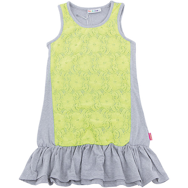 Платье для девочки LuminosoПлатья и сарафаны<br>Трикотажное платье для девочки декорированное контрастным кружевом и воланом по низу изделия. Свободный крой.<br>Состав:<br>48%полиэстер 36%вискоза  11.7%хлопок 4.3%эластан<br><br>Ширина мм: 236<br>Глубина мм: 16<br>Высота мм: 184<br>Вес г: 177<br>Цвет: белый<br>Возраст от месяцев: 108<br>Возраст до месяцев: 120<br>Пол: Женский<br>Возраст: Детский<br>Размер: 140,134,164,158,152,146<br>SKU: 5413654