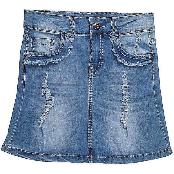 Юбка джинсовая для девочки LuminosoЮбки<br>Джинсовая юбка для девочки. Карманы декорированы бахрамой и эффектом рванной джинсы. Пояс с регулировкой внутренней резинкой.<br>Состав:<br>98%хлопок 2%эластан<br><br>Ширина мм: 207<br>Глубина мм: 10<br>Высота мм: 189<br>Вес г: 183<br>Цвет: синий<br>Возраст от месяцев: 108<br>Возраст до месяцев: 120<br>Пол: Женский<br>Возраст: Детский<br>Размер: 140,134,164,158,152,146<br>SKU: 5413757