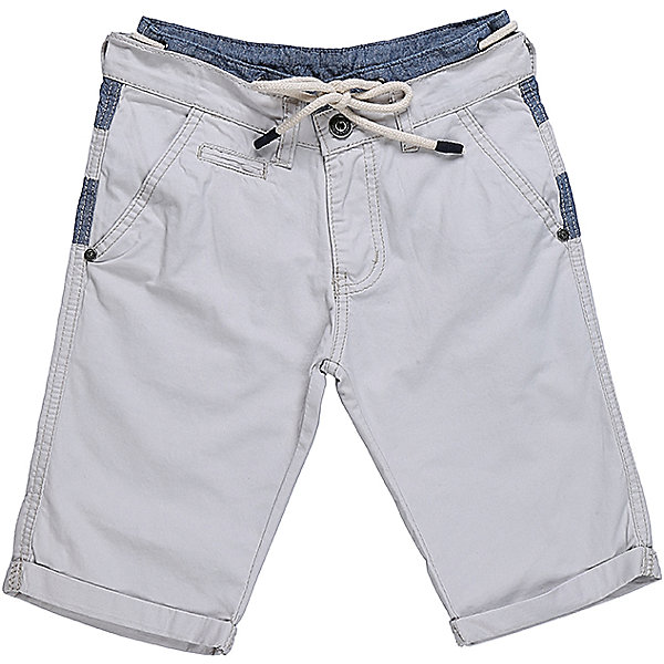 Шорты для мальчика LuminosoШорты, бриджи, капри<br>Оригинальные текстильные шорты для мальчика из комбинированной ткани. Пояс изделия декорирован шнуром. Два прорезных кармана по бокам. Застегиваются на молнию и пуговицу.  В боковой части пояса находятся вшитые эластичные ленты, регулирующие посадку по талии.<br>Состав:<br>100%хлопок<br>Ширина мм: 191; Глубина мм: 10; Высота мм: 175; Вес г: 273; Цвет: бежевый; Возраст от месяцев: 108; Возраст до месяцев: 120; Пол: Мужской; Возраст: Детский; Размер: 140,134,164,158,152,146; SKU: 5413767;