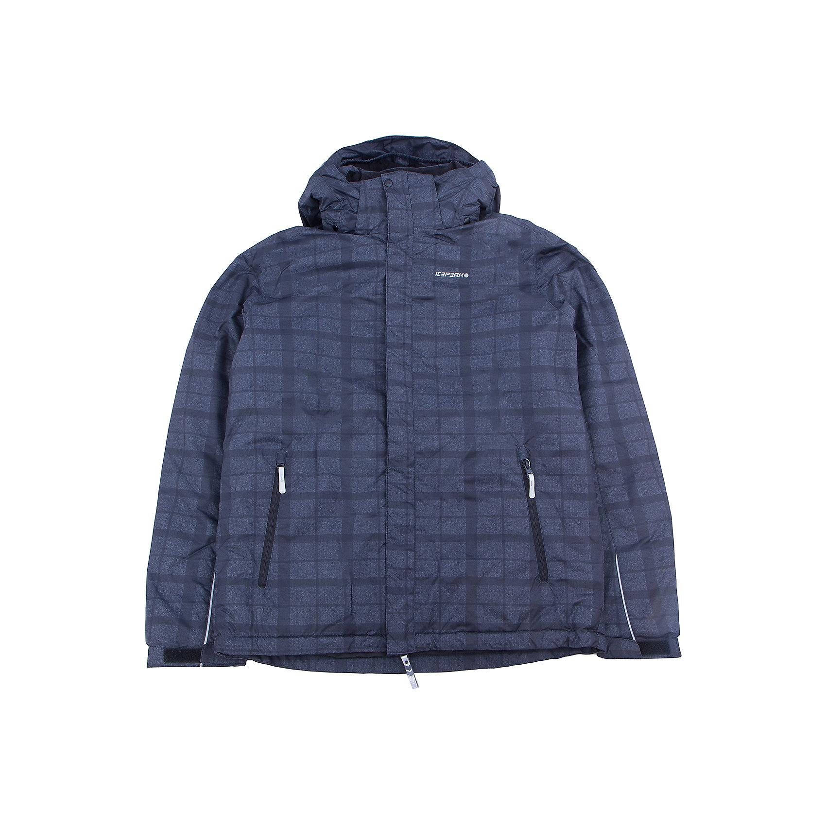 Куртка для мальчика ICEPEAKОдежда<br>Куртка для мальчика от известного бренда ICEPEAK.<br>Куртка с отстегивающимся капюшоном,молния закрыта планкой, сформированный локоть, утяжка в нижней части куртки, внутренний трикотажный манжет на рукаве, утепленные и мягкие боковые карманы на молнии, мягкий и теплый внутренний воротник,светоотражающие элементы, искусственный утеплитель Finnwad, утепление 180/160 гр., рекомендуемый температурный режим до -25 град.,Icemax 5000/2000, Children's safety, Reflectors<br>Состав:<br>100% полиэстер<br><br>Ширина мм: 356<br>Глубина мм: 10<br>Высота мм: 245<br>Вес г: 519<br>Цвет: синий<br>Возраст от месяцев: 180<br>Возраст до месяцев: 192<br>Пол: Мужской<br>Возраст: Детский<br>Размер: 176<br>SKU: 5413896